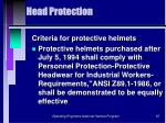head protection97