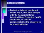 head protection98