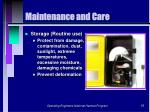 maintenance and care55