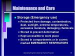 maintenance and care56