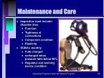 maintenance and care58