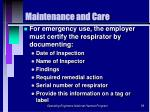maintenance and care59