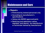 maintenance and care60