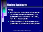 medical evaluation40
