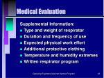 medical evaluation43
