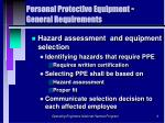 personal protective equipment general requirements6