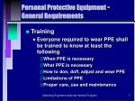 personal protective equipment general requirements7