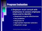program evaluation75