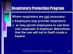 respiratory protection program28