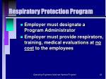 respiratory protection program30