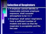 selection of respirators32