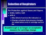 selection of respirators36