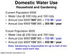 domestic water use household and gardening