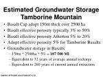 estimated groundwater storage tamborine mountain