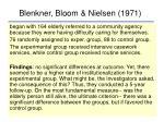 blenkner bloom nielsen 1971