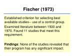 fischer 1973