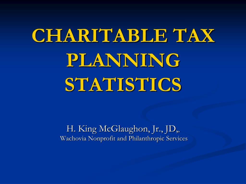 charitable tax planning statistics l.