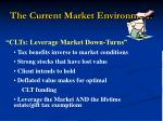the current market environment23