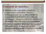 conceptul de metodica