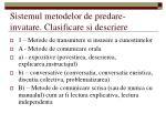 sistemul metodelor de predare invatare clasificare si descriere
