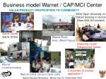 business model warnet cap mci center