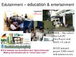 edutainment education entertainment