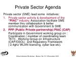 private sector agenda