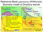 reference book published by apwkomitel business model directory warnet