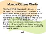 mumbai citizens charter