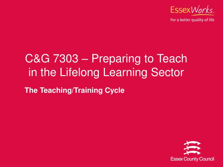 the teaching training cycle n.