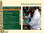 individual self learning
