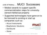 a bit of history muci successes
