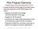pilot program elements technology commercialization fund11