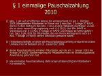 1 einmalige pauschalzahlung 201018