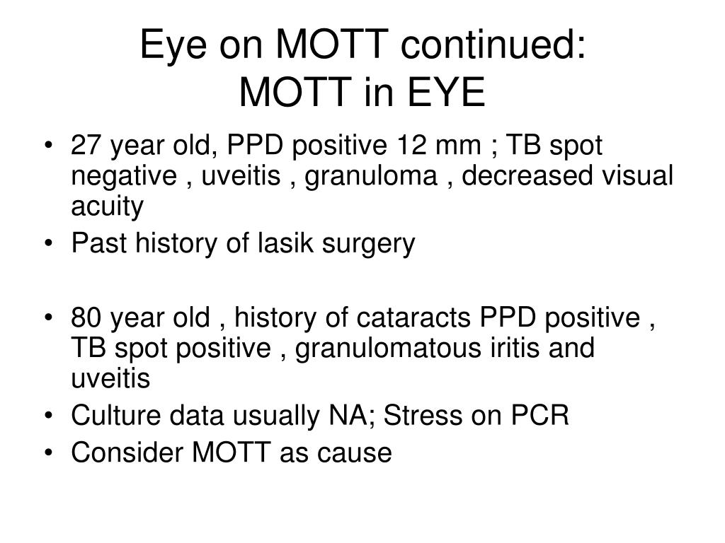 Eye on MOTT continued: