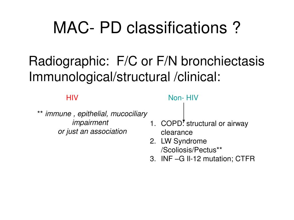 MAC- PD classifications ?