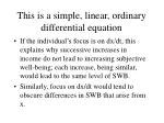 this is a simple linear ordinary differential equation