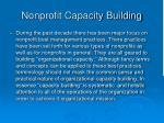 nonprofit capacity building