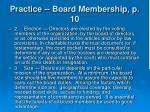 practice board membership p 1017