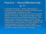 practice board membership p 1120