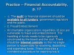 practice financial accountability p 1740