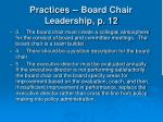 practices board chair leadership p 1228