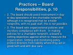 practices board responsibilities p 1013