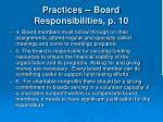 practices board responsibilities p 1014