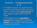 practices funding essentials p 1636