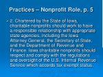 practices nonprofit role p 510