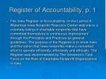 register of accountability p 1