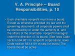 v a principle board responsibilities p 10