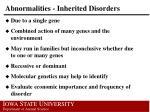 abnormalities inherited disorders