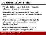 disorders and or traits1
